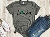 Irish girl Womens St patricks day tee buffalo plaid Shamrock shirt st paddys day holiday womens gold love tee gift for her Irish af tee