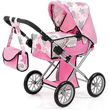 Bayer Design 13672AA City Star Dolls Pram, Soft Pink
