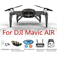 Extended Landing Gear+55cm landing pad+Control Stick Protector+Remote Controller Clasp+Remote Control Antenna Range Booster for DJI Mavic AIR