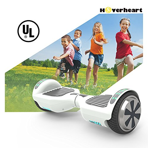 "51u5rh pBKL - Hoverboard 6.5"" UL 2272 Listed Two-Wheel Self Balancing Electric Scooter with Top LED Light And Bluetooth Speaker (Whte)"