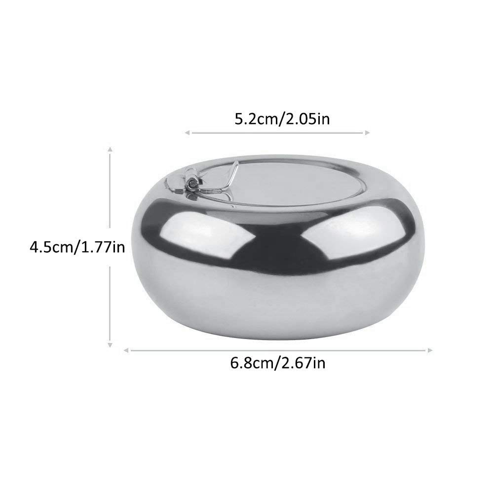 Ciaoed Stainless Steel Ashtray with Lid&Ciagarette Holder for Outdoor or Indoor