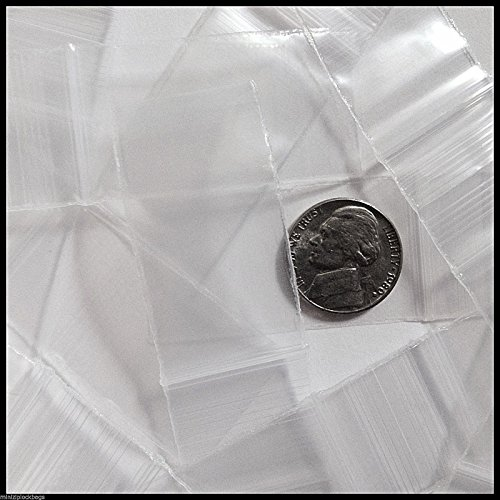 1020 Original Mini Ziplock 2.5mil Plastic Bags 1″ x 2″ Reclosable Baggies (Clear)