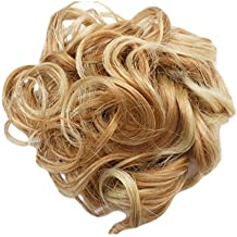 CURLY OR MESSY DRAWSTRING UPDO FULL BUN ADD BODY (BLONDE MIX bc27t613) Synthetic