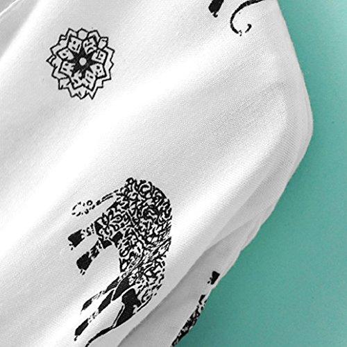 Clode® Femmes éléphant imprimé à moitié manches kimono veste manteau Tops blouse couvrir