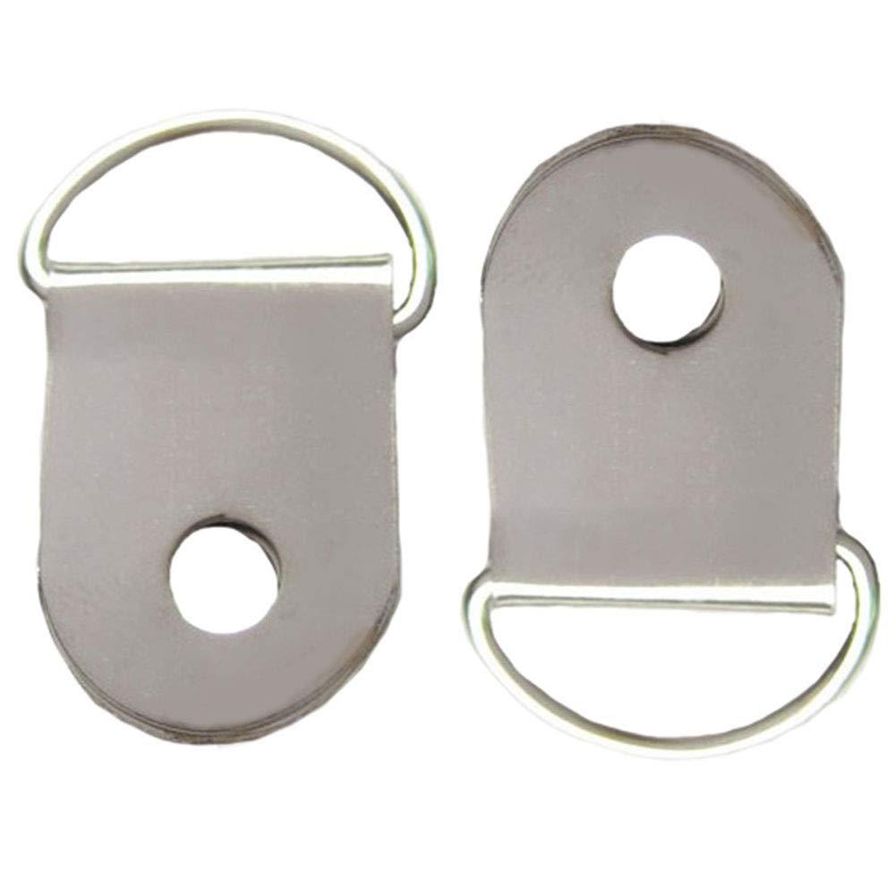argento Ganci in metallo per appendere quadri con foro singolo accessori da parete 50 pezzi per artigianato piccoli ganci semicerchio anello a D