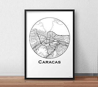 Poster Caracas Venezuela Minimalista Mappa - Mappa della città, stampa d'arte