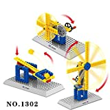Windmill Mechanical Gear Technic Building Blocks Engineering Children's Science Educational STEM Toys,3 in 1 (Windmill)