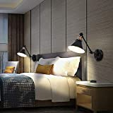 Plug in Wall Sconces, PARTPHONER Swing Arm Wall