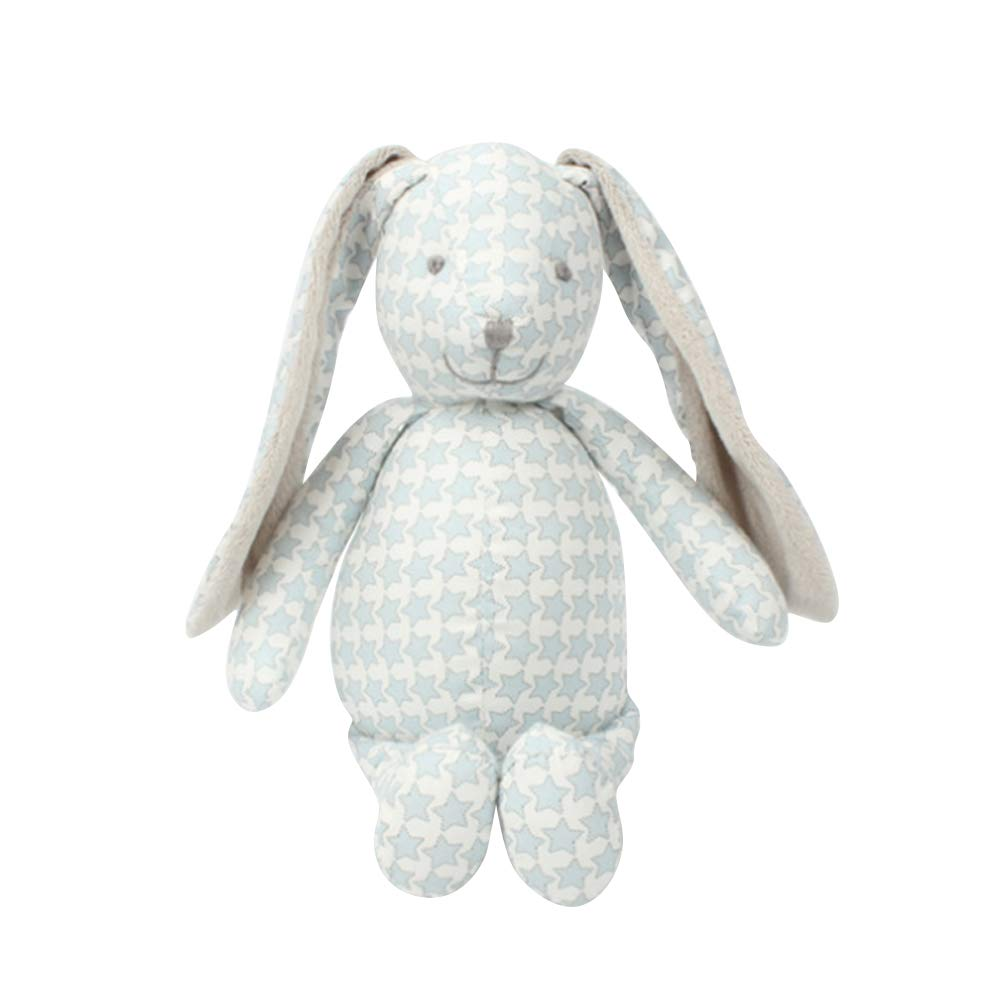 BELUPAID Cute Calico Stuffed Bunny Doll Toys, Printing Soft PP Cloth Toy Cuddly Animals Dolls Floppy Ears Cuddly Rabbit Best Birthday Gift Easter Gifts for Baby Kids Children Present