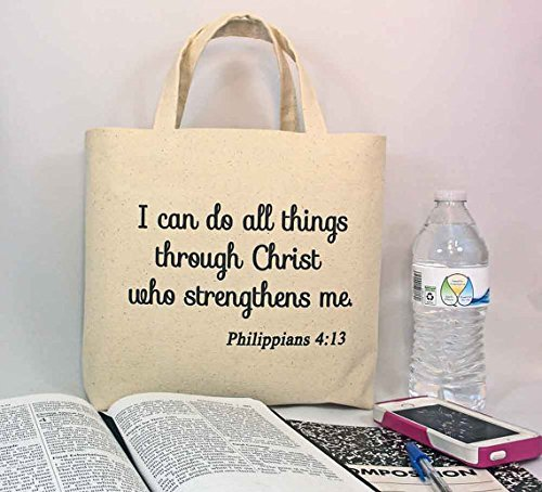 126556317fd2 Amazon.com  BIBLE TOTE Scripture Tote with inside divided pocket ...