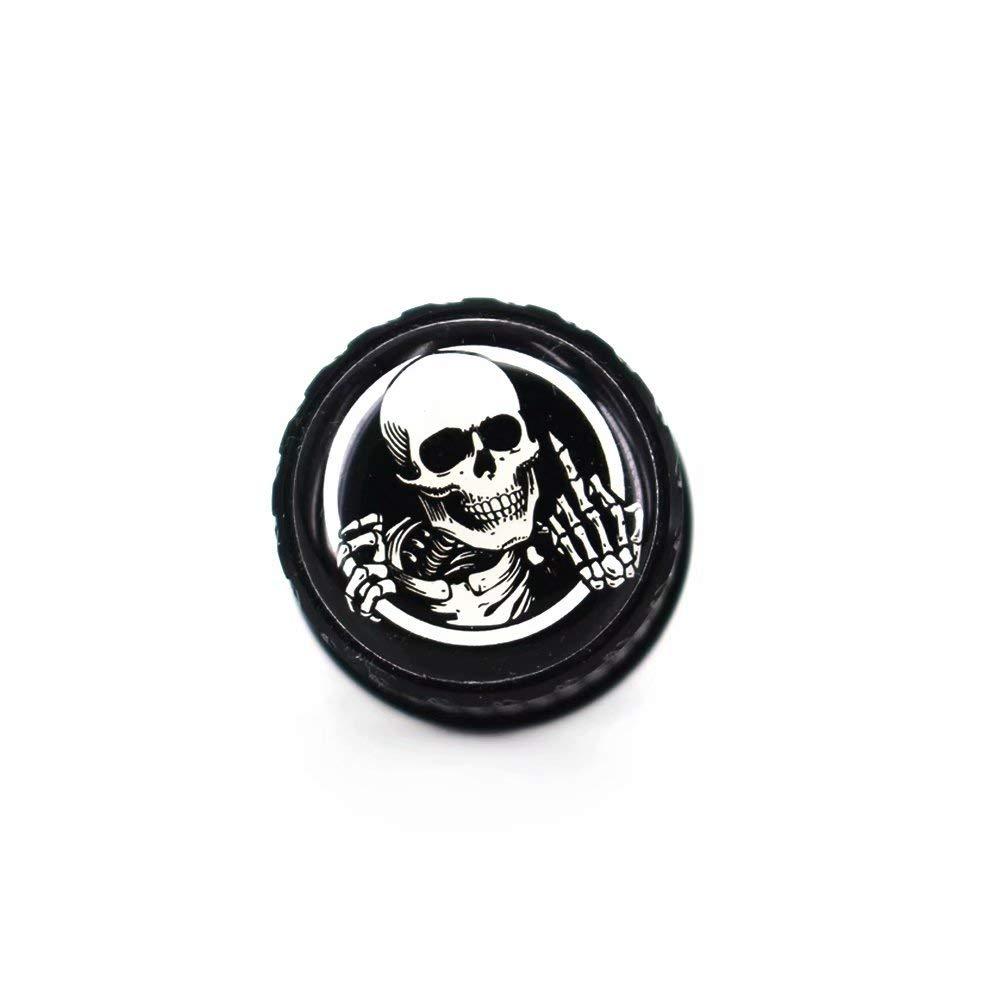 Skeleton Middle Finger Stainless Knurled Fender Seat Bolt Screw 1//4-20 Thread For Harley Davidson