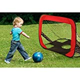 Goplus 2 in 1 Pop Up Soccer Goal Net for Kids w/Portable Carry Bag, Indoor & Outdoor Training for Football Practice