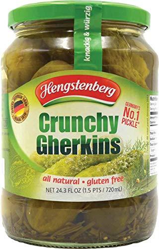 Hengstenberg Crunchy Gherkins, 24.3 Ounce (Pack of 12)