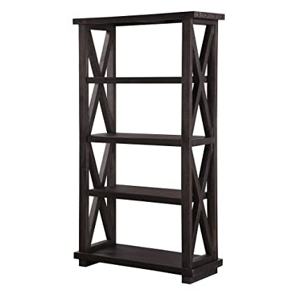 Amazon Com Modus Furniture 7yc91939 Yosemite Solid Wood Bookcase Cafe Kitchen Dining