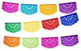 2 pack Medium Tissue Papel Picado Banner''Las Palomas'' Design - Each Banner includes 12 Panels and is 16 Feet Long Hanging by Paper Full of Wishes
