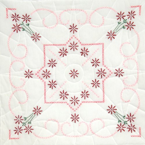 Stamped Quilt Blocks 18X18 6/Pkg-Lazy Daisy