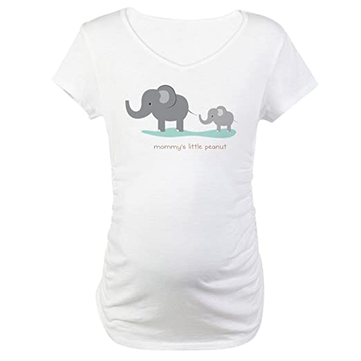 b69b5166 CafePress Mommy's Little Peanut Maternity T Shirt Cotton Maternity T-Shirt,  Cute & Funny