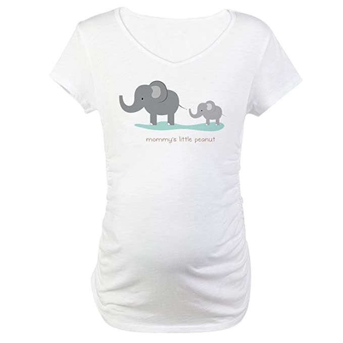 2c589b60a426f CafePress Mommy's Little Peanut Maternity T Shirt Cotton Maternity T-Shirt,  Cute & Funny