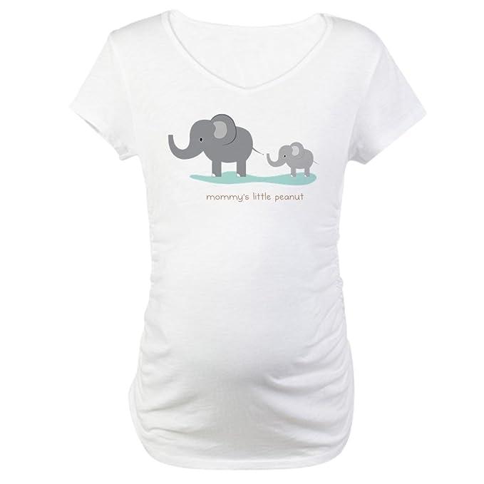 21f00aca19028 CafePress Mommy's Little Peanut Maternity T Shirt Cotton Maternity T-Shirt,  Cute & Funny