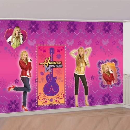 Hannah Montana Roll - 8ft Hannah Montana Giant Decorating Set by Official Costumes by Amscan