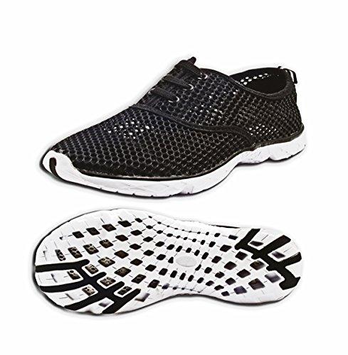 Leichte leichte trockene athletische Wasser-Schuhe der Tinton Beach-Männer Schwarz
