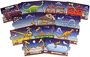 Steam Train Animal Puzzle for Toddlers, Childrens Puzzle with Animals, Floor Puzzle with Big Pieces Dream Train Puzzle