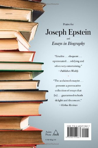essays in biography joseph epstein com books