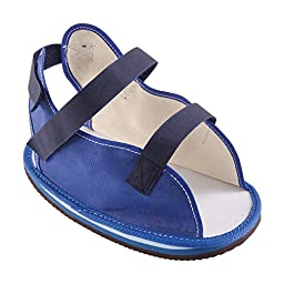 DMI Rocker Bottom Cast Shoe Post-Op Shoe, Small, Blue