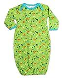 Zutano Baby-boys Newborn Cowboys Gown, Lime, 3 Months