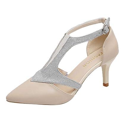 46066c157c829 Amazon.com: Clearance! YEZIJIN Women's Fashion Stilettos Open Toe ...