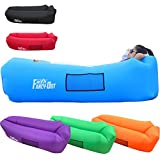 Waterproof Air Lounger,Inflatable Lazy Bag Hangout Sleeping Bag Outdoor or Indoor Portable Air Sleeping Sofa for Camping Beach Park Backyard