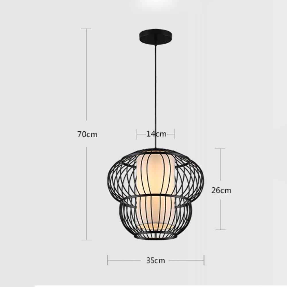Ein Satz Kronleuchter - Moderne neue chinesische Eisenkäfig Kronleuchter Wohnzimmer leuchtet Restaurant minimalistische Hotel Restaurant Projektideen Kronleuchter (Nicht die Lichtquelle einschließen)