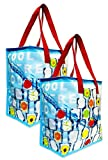 Earthwise Insulated Reusable Grocery Bag Thermal Shopping Cooler Tote (2 Pack)