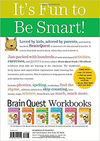 Brain Quest Workbook: Grade 1: Lisa Trumbauer: 9780761149149 ...
