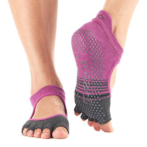 Calze Mulberry Toesox Socks For Pilates Bellarina Ballet slip Donna Toe non Yoga amp; Stripe Half Grip Barre rZrB4qO
