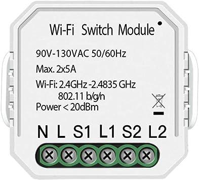 Interruptor de luz inteligente DIY m/ódulo Smart Life//Tuya APP mando a distancia funciona con Alexa Echo Google Home 1//2 Way