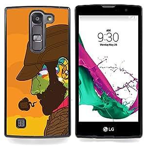 Doing Good Colorful Face Caja protectora de pl??stico duro Dise?¡Àado King Case For LG Volt 2 / LG G4 Mini (G4c)