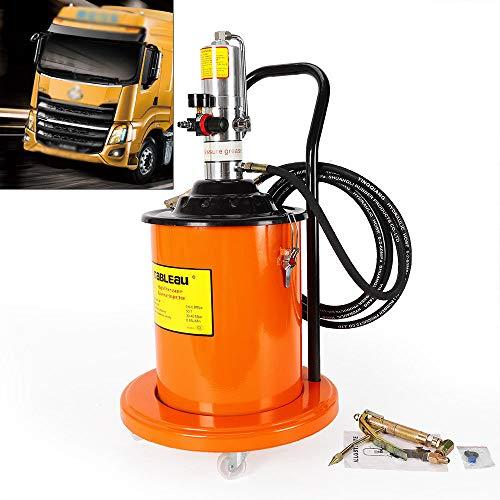 TUQI 5 Gallon Air Operated High Pressure Grease Pump + Pneumatic Universal Gun  Hose reviews