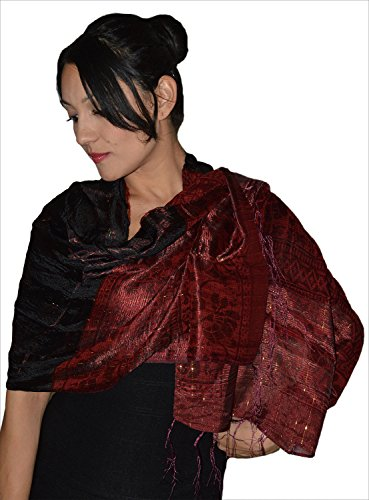 Moroccan Shoulder Shawl Breathable Oblong Head Scarf Silky Soft Exquisite Wrap Black by Treasures of Morocco Shawls