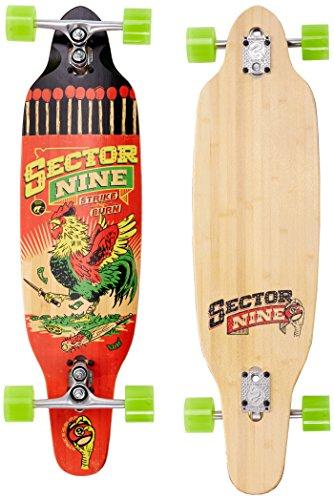 (Sector 9 Striker Complete Skateboard, Red)