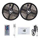 LED Strip Light, WEKSI Waterproof LED Tape Lights 300LEDs Lightstrip 32.8ft 10m Color Changing RGB 5050 LED Light Strip Kit with 44 Keys Remote Controller and 12V 5A Power Supply
