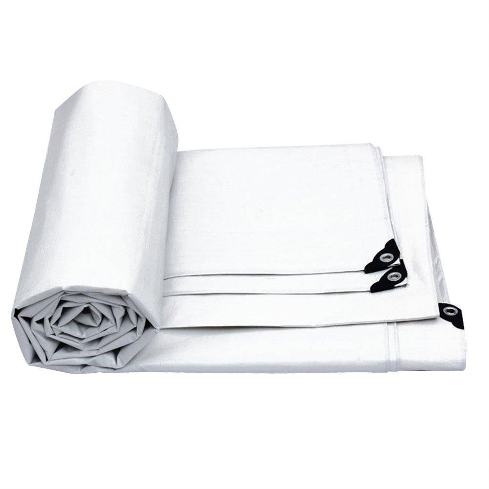 CHAOXIANG ターポリン 日焼け止め 耐寒性 シェード布 絶縁 厚い PE、 180G/㎡、 12サイズ (色 : 白, サイズ さいず : 9.8 × 7.7 m) B07FYGYY64 9.8 × 7.7 m|白 白 9.8 × 7.7 m