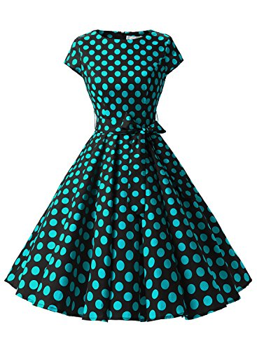 Dressystar-Vintage-1950s-Polka-Dot-and-Solid-Color-Party-Prom-Dresses-Rockabilly-Cap-Sleeves