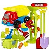 VGHJK Children's Beach Toys Set Bucket Hourglass Boy Baby Large Dredger Shovel Play Bath Toys(random Color),L