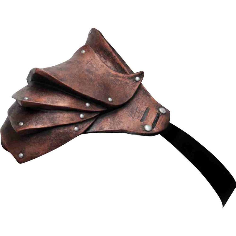 Men's Steampunk Goggles, Guns, Gadgets & Watches Ghoulish Productions Latex Pauldron Shoulder Armor $39.99 AT vintagedancer.com