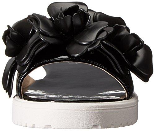 Nine West Radella sintético vestido de la sandalia Negro/Negro