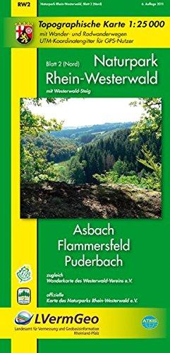 Naturpark Rhein-Westerwald /Asbach, Flammersfeld, Puderbach (WR): Naturparkkarte 1:25000 mit Wander- und Radwanderwegen sowie dem Verlauf des ... Rheinland-Pfalz 1:15000 /1:25000) (Niederländisch) Landkarte – Folded Map, 7. Juli 2011 3896372653 Karten Stad