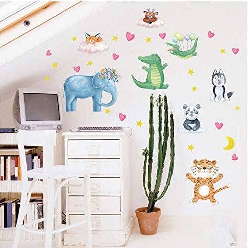 KaiXINSun PVC Dibujos Animados Animales Calcomanías Puerta Armario Nevera Cama Habitación del Bebé Jardín De Infantes Decorativo Pegatinas De Pared Mural 50X70 Cm: Amazon.es: Hogar