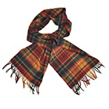 Carrolls Designs Antique Buchanan Wool Scarf With Red, Green & Beige Tartan Des.