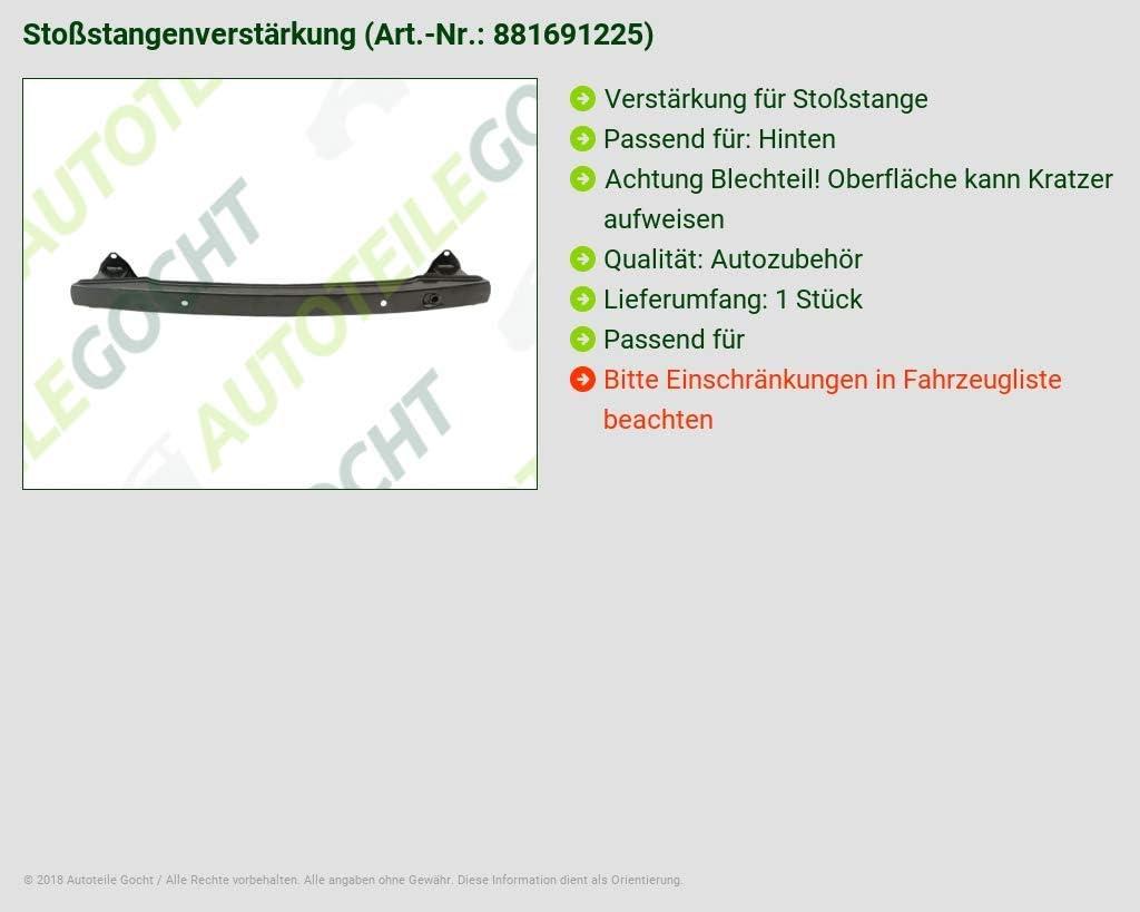 Citroen C3 Fc 02 Schr/ägheck Sto/ßstange Verst/ärkung Hinten